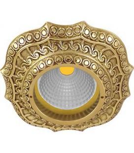 Скругленный точечный светильник из латуни, FEDE коллекция LUCCA, блестящее золото