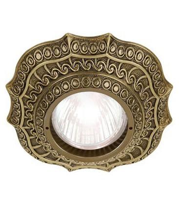 Скругленный точечный светильник из латуни, FEDE коллекция LUCCA, патина