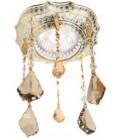 Kруглый точечный светильник из латуни, с кристаллами Swarovski, FEDE коллекция LUCCA CRYSTAL DE LUXE, золото с белой патиной