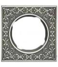 Квадратный точечный светильник из латуни, FEDE коллекция SAN SEBASTIAN, блестящий хром