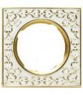 Квадратный точечный светильник из латуни, FEDE коллекция SAN SEBASTIAN, золото с белой патиной