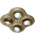 Поворотный точечный светильник из латуни на 4 лампы, FEDE коллекция SAN SEBASTIAN, блестящее золото