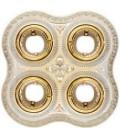 Поворотный точечный светильник из латуни на 4 лампы, FEDE коллекция SAN SEBASTIAN, золото с белой патиной