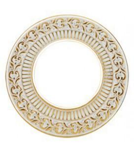 Круглый точечный светильник из латуни, FEDE коллекция SAN SEBASTIAN, золото с белой патиной