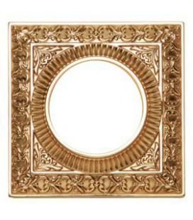 Квадратный точечный светильник из латуни, FEDE коллекция SAN SEBASTIAN, блестящее золото