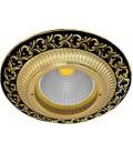 Круглый встраиваемый точечный светильник из латуни, FEDE коллекция SMALTO ITALIANO SAN SEBASTIAN, jet black