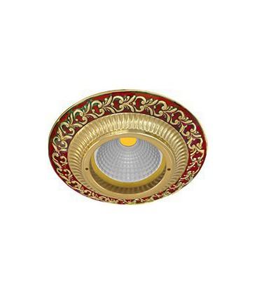 Круглый встраиваемый точечный светильник из латуни, FEDE коллекция SMALTO ITALIANO SAN SEBASTIAN, ruby red