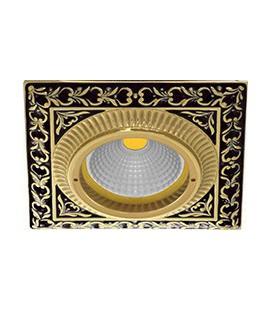 Квадратный встраиваемый точечный светильник из латуни, FEDE коллекция SMALTO ITALIANO SAN SEBASTIAN, jet black