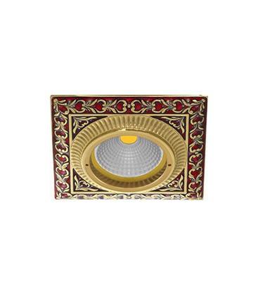Квадратный встраиваемый точечный светильник из латуни, FEDE коллекция SMALTO ITALIANO SAN SEBASTIAN, ruby red
