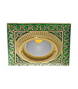 Квадратный встраиваемый точечный светильник из латуни, FEDE коллекция SMALTO ITALIANO SAN SEBASTIAN, emerald green