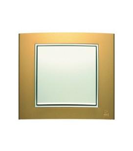 Выключатель в сборе Berker серии B.3, золотой/полярная белизна