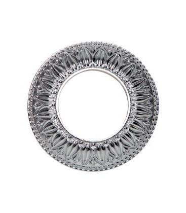 Круглый точечный светильник из латуни, FEDE коллекция PRATO, блестящий хром