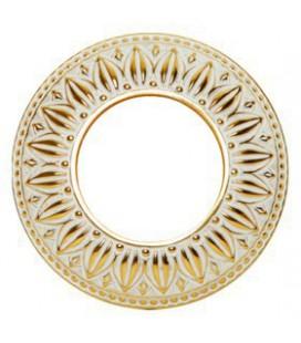 Круглый точечный светильник из латуни, FEDE коллекция PRATO, золото с белой патиной