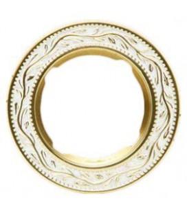 Круглый точечный светильник из латуни, FEDE коллекция PARIS, золото с белой патиной