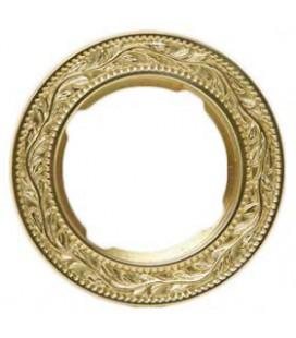 Круглый точечный светильник из латуни, FEDE коллекция PARIS, блестящее золото