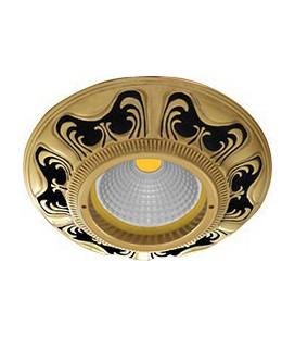 Круглый встраиваемый точечный светильник из латуни, FEDE коллекция SMALTO ITALIANO SIENA, jet black