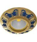Круглый встраиваемый точечный светильник из латуни, FEDE коллекция SMALTO ITALIANO SIENA, blue sapphire