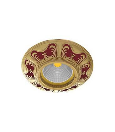 Круглый встраиваемый точечный светильник из латуни, FEDE коллекция SMALTO ITALIANO SIENA, ruby red
