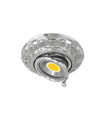 Круглый точечный поворотный светильник из латуни, FEDE коллекция SIENA SWIVET & TILT, блестящий хром