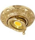 Круглый точечный поворотный светильник из латуни, FEDE коллекция SIENA SWIVET & TILT, блестящее золото