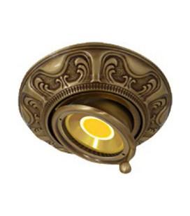 Круглый точечный поворотный светильник из латуни, FEDE коллекция SIENA SWIVET & TILT, патина