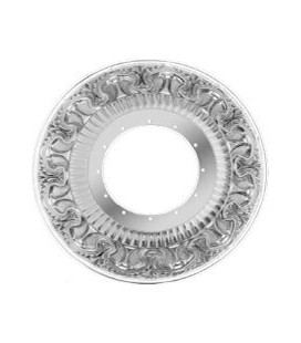 Круглый точечный светильник из латуни с отвертсиями для кристаллов, FEDE коллекция CORDOBA, блестящий хром