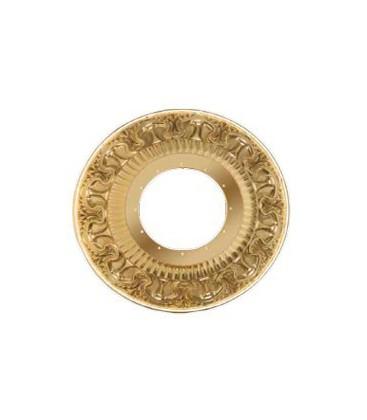 Круглый точечный светильник из латуни с отвертсиями для кристаллов, FEDE коллекция CORDOBA, блестящее золото