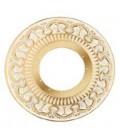 Круглый точечный светильник из латуни с отвертсиями для кристаллов, FEDE коллекция CORDOBA, золото с белой патиной