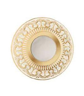 Круглый точечный светильник из латуни IP44, FEDE коллекция CORDOBA, матовое стекло, золото с белой патиной