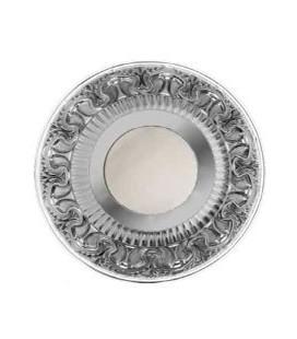 Круглый точечный светильник из латуни IP44, FEDE коллекция CORDOBA, матовое стекло, блестящий хром