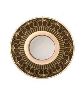 Круглый точечный светильник из латуни IP44, FEDE коллекция CORDOBA, матовое стекло, патина