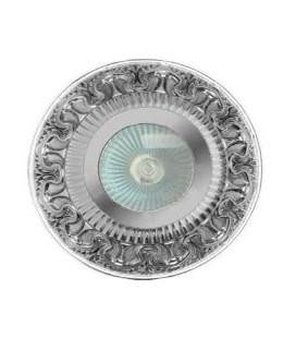 Круглый точечный светильник из латуни IP44, FEDE коллекция CORDOBA, прозрачное стекло, блестящий хром