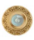 Круглый точечный светильник из латуни IP44, FEDE коллекция CORDOBA, прозрачное стекло, блестящее золото