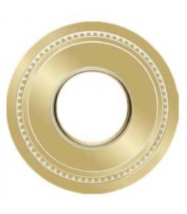 Круглый точечный светильник из латуни FEDE коллекция ROMA MINI, золото с белой патиной