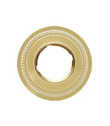 Круглый точечный светильник из латуни FEDE коллекция ROMA, золото с белой патиной