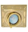 Квадратный встраиваемый одиночный поворотный светильник, FEDE коллекция SIENA SQUARE, блестящее золото