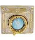 Квадратный встраиваемый одиночный поворотный светильник, FEDE коллекция SIENA SQUARE, золото с белой патиной