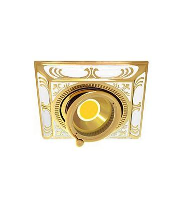 Квадратный встраиваемый одиночный поворотный светильник, FEDE коллекция SMALTO ITALIANO SIENA SQUARE, pearl white