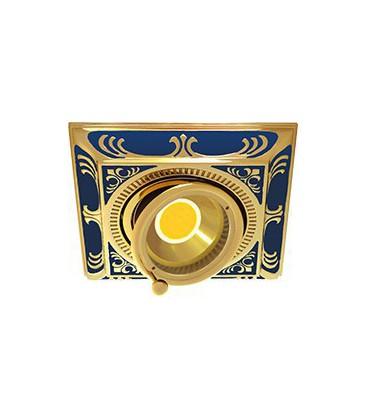 Квадратный встраиваемый одиночный поворотный светильник, FEDE коллекция SMALTO ITALIANO SIENA SQUARE, blue sapphire