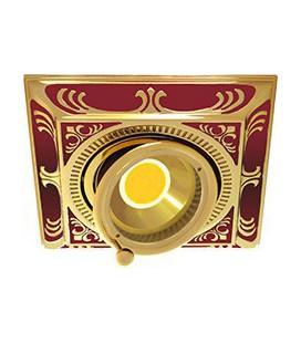 Квадратный встраиваемый одиночный поворотный светильник, FEDE коллекция SMALTO ITALIANO SIENA SQUARE, ruby red