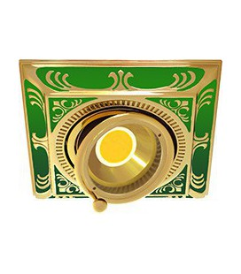 Квадратный встраиваемый одиночный поворотный светильник, FEDE коллекция SMALTO ITALIANO SIENA SQUARE, emerald green