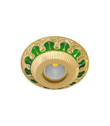 Круглый встраиваемый точечный светильник из латуни, FEDE коллекция SMALTO ITALIANO CORDOBA, emerald green
