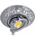 Круглый точечный поворотный светильник из латуни, FEDE коллекция CORDOBA SWIVET & TILT, блестящий хром