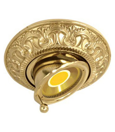Круглый точечный поворотный светильник из латуни, FEDE коллекция CORDOBA SWIVET & TILT, блестящее золото