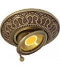 Круглый точечный поворотный светильник из латуни, FEDE коллекция CORDOBA SWIVET & TILT, патина