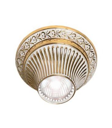 Накладной точечный светильник из латуни, FEDE коллекция VITORIA, золото с белой патиной