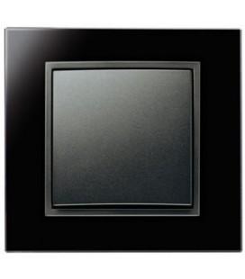Выключатель в сборе Berker серии B.7 Glas, черный