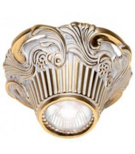 Накладной точечный светильник из латуни, FEDE коллекция Chianti Surface, золото с белой патиной