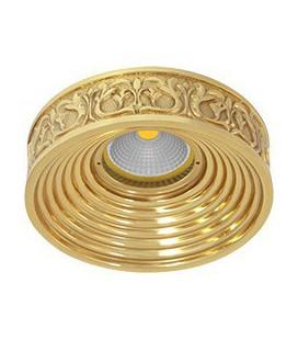 Круглый точечный светильник из латуни, FEDE коллекция EMPORIO, блестящее золото
