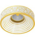 Круглый точечный светильник из латуни, FEDE коллекция EMPORIO, золото с белой патиной